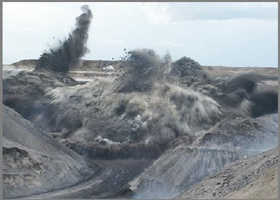 mountaintop removal mining blast/explosion