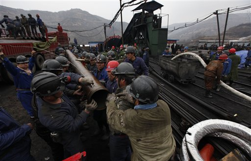 APTOPIX China Mine Flood