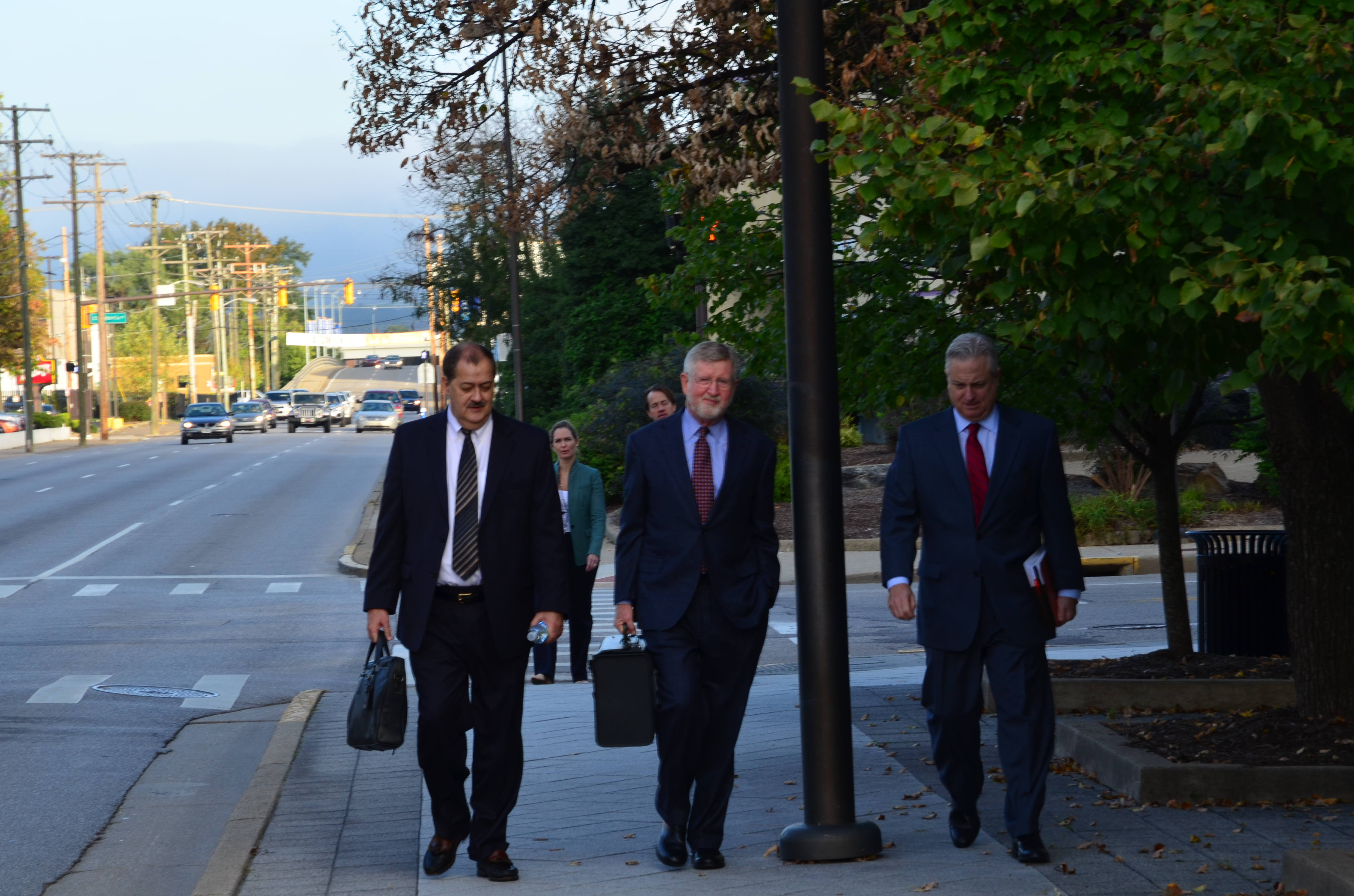 Don Blankenship arrives at federal court on Oct. 7. Photo by Joel Ebert
