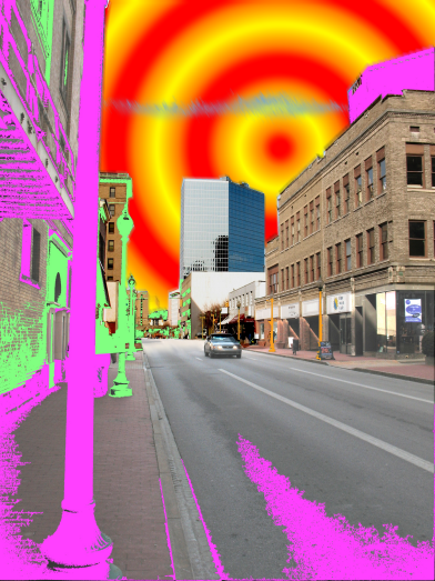 Lee Street, digitally assaulted photograph