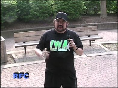 Rudy, wearing the IWA EC Shirt