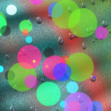 See, there are some drops, and then there are some circles.  Perhaps this one is more fartsy than artsy.