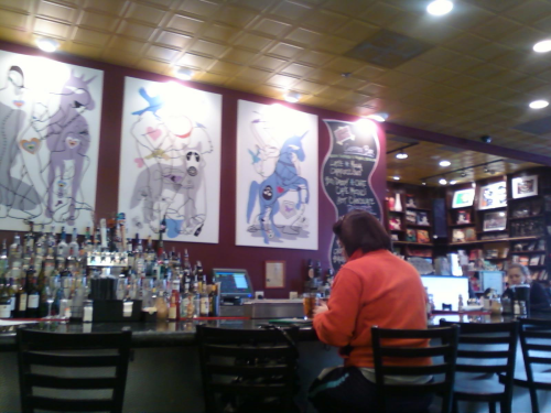 If Taylor Books and The Bluegrass Kitchen had a kid, and that kid moved to DC, it would be Busboys and Poets.