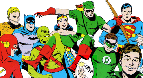 The Justice League as drawn by Mike Sekowsky