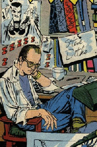 Steve Ditko self portrait from the mid-1960s