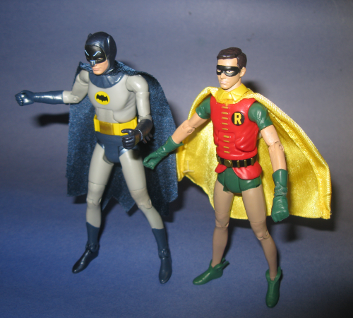 Batman and Robin, six inches tall, by Mattel