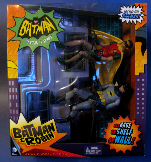 Batman and Robin climbing a wall. Cool, but a bit on the pricey side