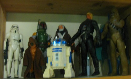"""12"""" scale Star Wars figures. I don't know what's going on with Luke's head on Darth's body"""