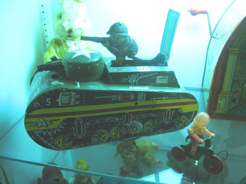 Close up of the tank