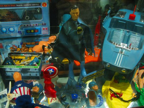 An amazing assortment of rare, vintage toys.