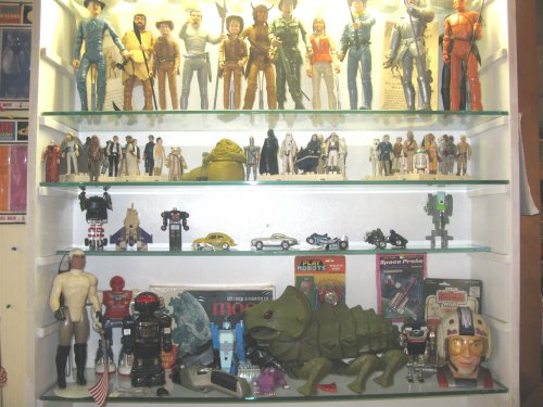 """Marx 12'"""" figures on the top, with Star Wars, Transformers and all kinds of cool stuff below"""