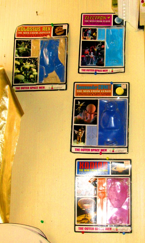 The Colorofrm Outer Space Men are so valuable that the empty packages are worthy of display