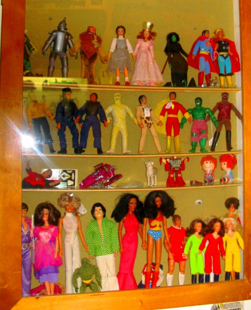 A case full of MEGO and stuff