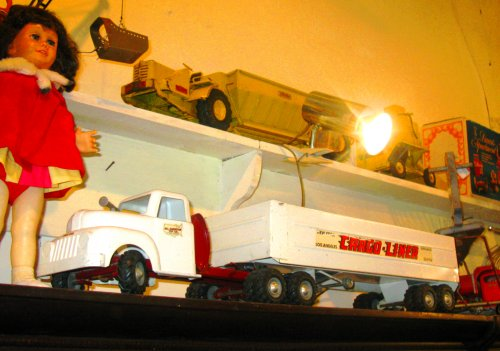 Part of pHil's huge personal collection of toy trucks