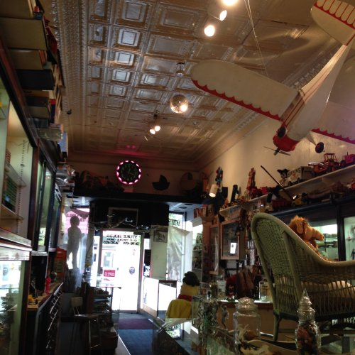 A cool view of the shop, looking at the front door. Photo by Gino Scarselato