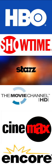 A full slate of HD movie channels is available