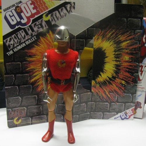 So I picked up Bulletman, and a cool reproduction of his backing card