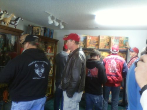It was like the coolest Black Hole of Calcutta ever, as a couple dozen avid GI Joe collectors crammed in to see Tim's collection