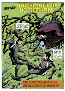 The first page of the first Star Trek comic book story