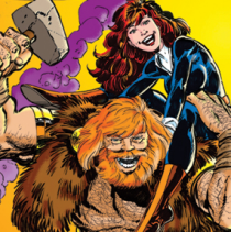 Detail from John Byrne's pin-up
