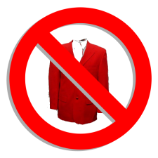 no  red jacket