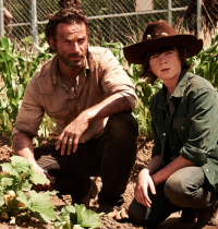 """Rick (with Carl) from """"The Walking Dead"""""""
