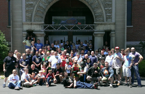 We wind up our photo essay with the MEGO Meet group photo, taken in front of The Kruger Street Toy and Train Museum, and swiped from the MEGO Meet Facebook page.  The MEGO Meet music video is coming this weekend.