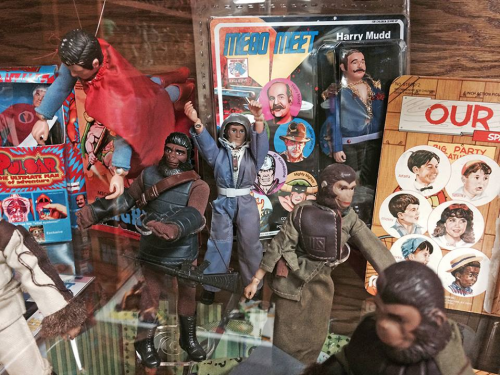 MEGO stuff, with Planet of the Apes and Star Trek in evidence