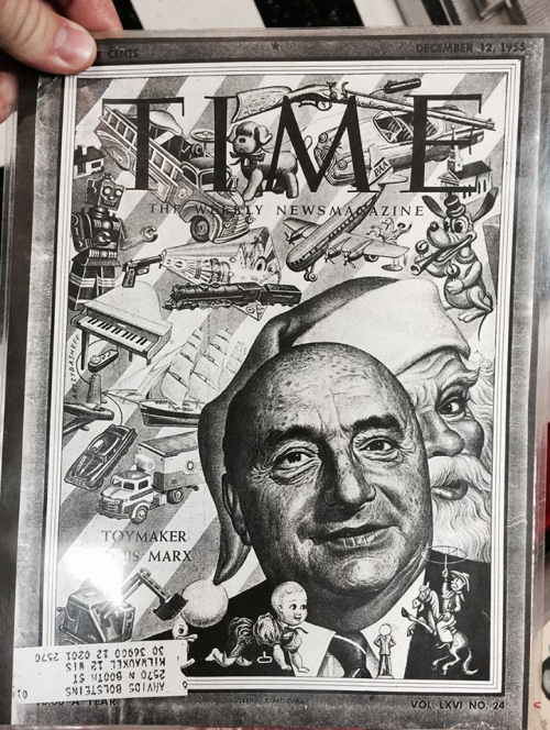 Mark didn't realize that Louis Marx had been on the cover of Time Magazine in the 1950s.