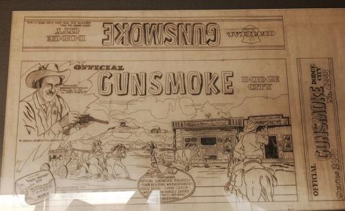 Original art for the Gunsmoke Playset