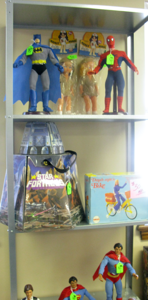 """MEGO 12"""" figures and rare carrying cases"""