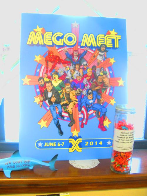 The MEGO Meet X poster