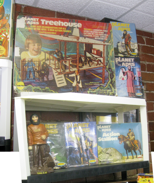 Vintage MEGO Planet of the Apes figures, shown here to make Mark Wolfe drool