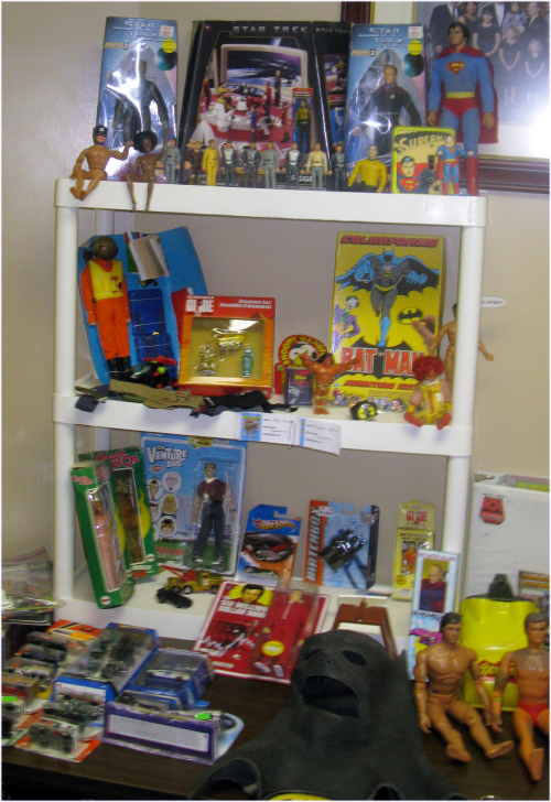 Many dealers offered a wide variety of vintage toys