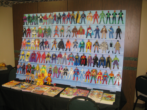 Art Baltazar, in addition to being a great cartoonist (check out his AW Yeah! Comics in this week's PopCult Bookshelf) but he's also a heck of a nice guy and a master MEGO customizer. The MEGO Meet music video will include close-ups of these mini-masterpieces