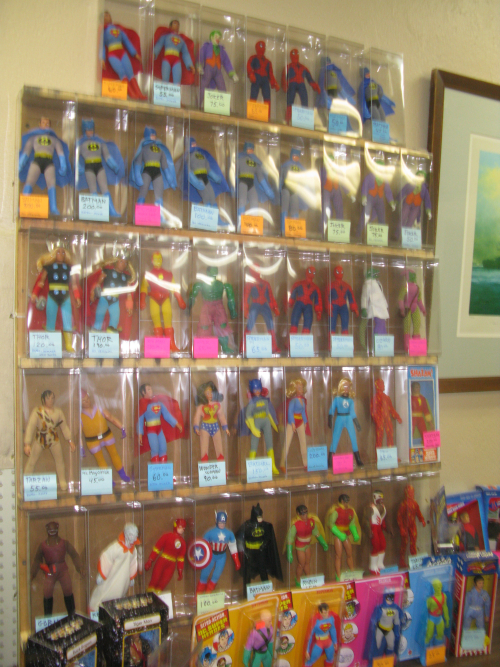 A wall of vintage MEGO