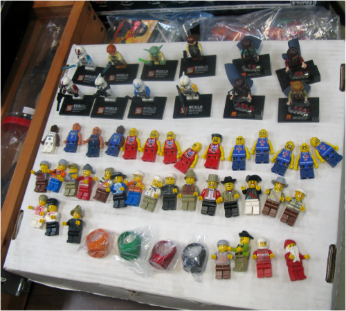 One dealer even had Lego folks. It's just one letter off, y'know