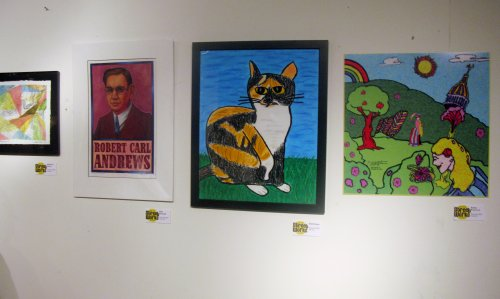 Work by Rebecca Recco, Rob Cleland, Rob Hrezo and some guy