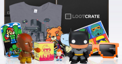 This is about as much stuff as you might get from Loot Crate in four or five months