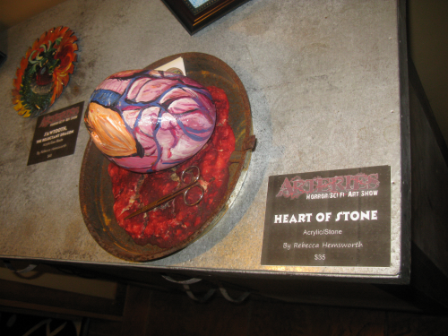 Close up of Heart of Stone, by Rebecca hemsworth