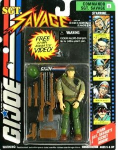 The Commando Sgt Savage, who came with the video you see above, and apparently no underwear