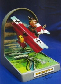 A scratch-built model of Baron Von Blitzhoven, one of the never-produced Aer-O-Toon characters