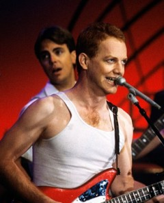 Elfman on stage with Oingo Boingo, circa 1985