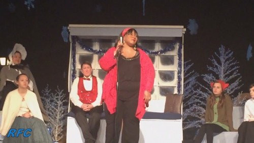 "Lady D, performing at ""An Old Fashioned Christmas and a Movie"""