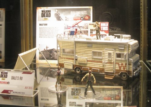 On tap in McFarlane Toys Walking Dead building set line is this detailed version of Dale's RV. We will cover The Walking Dead products in depth next week.