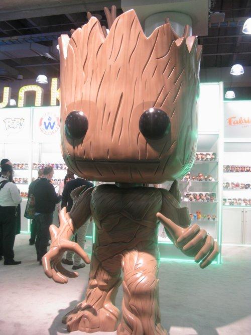 This PopVinyl Groot was over ten feet tall.