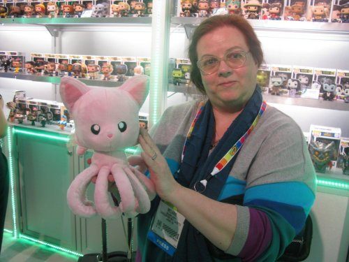 Mrs. PopCulteer with Tentacle Kitty.