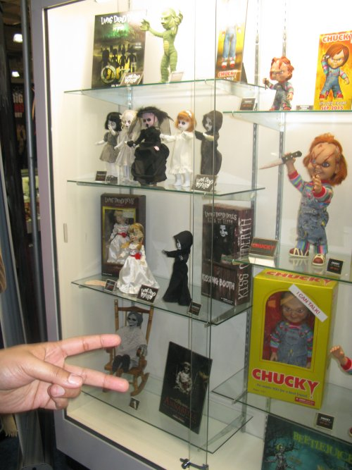 Mezco's Living Dead Dolls and talking Chuckie (featuring the voice of West Virginia's Brad Dourif).