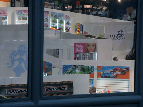 This is as close as we got to Mattel's exhibit without an appointment. Next year!