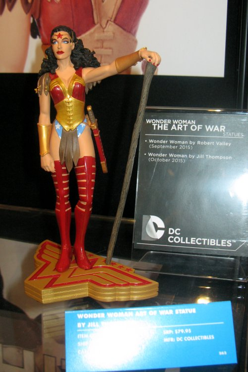 A lovely Wonder Woman statue based on designs by Jill Thompson.
